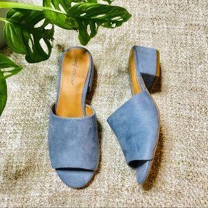 Comfort View Grey Slip on Chunky Heel Sandal
